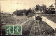 56 AGEN – Ligne du Chemin de fer passant sous le Canal / Cliché des Grandes Galeries Modernes, Agen.